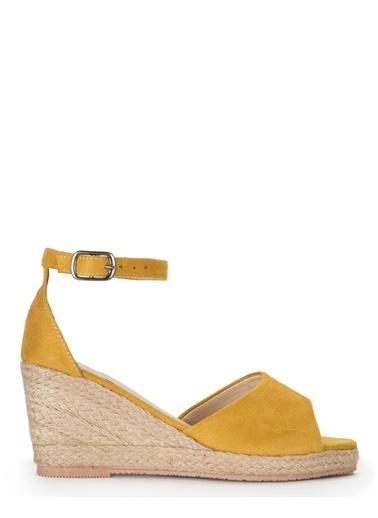 Sole Sisters Dolgu Topuklu Sandalet Sarı - Dohotar Sarı